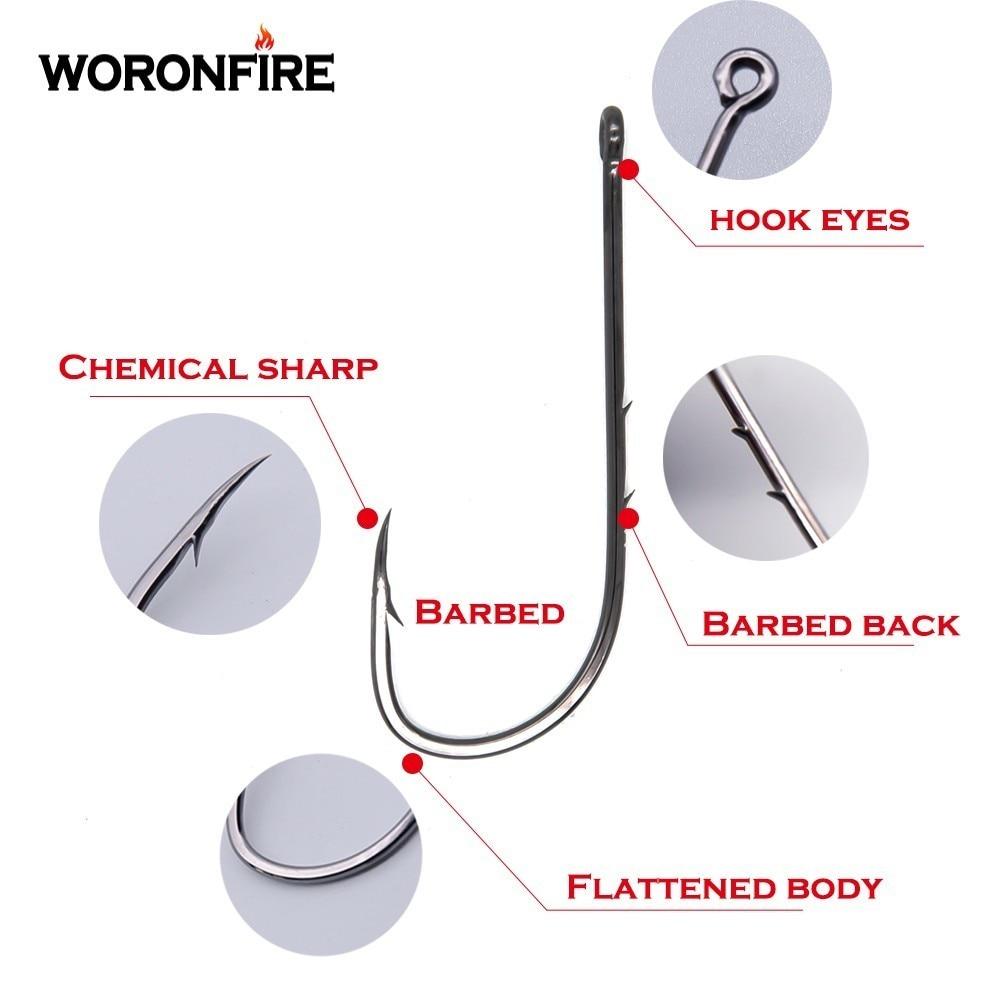 Details about  /Lot 50 Pcs High Carbon Steel Hooks Fishing Hook Barbed Long Shank Sharpened Y9Y5